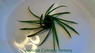 Украшение из огурца - Карвинг овощей & Цветок из огурца - Карвинг огурца