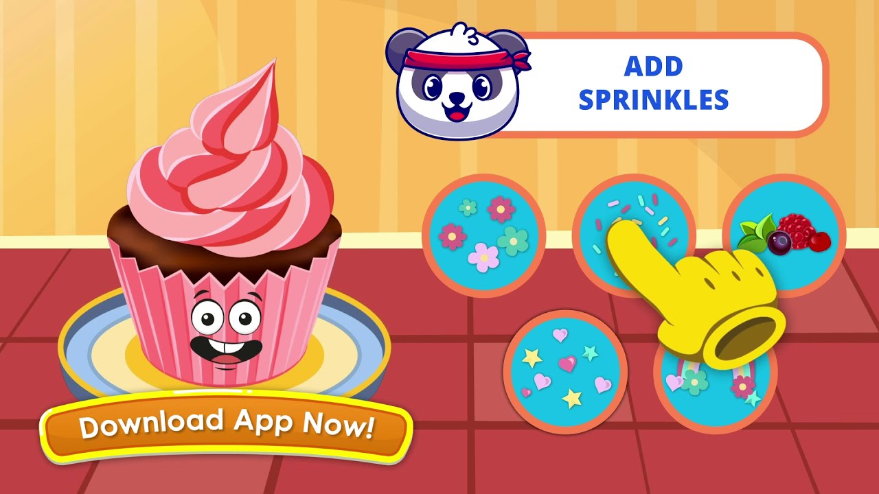 Make Delicious Keiki Cupcakes | Decorate Cupcakes | Apps for Kid