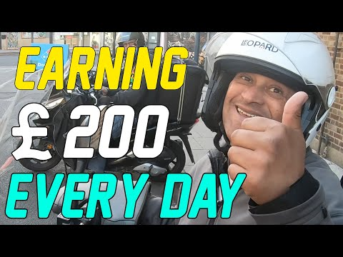He Is Earning £200 Every Day! Working for Deliveroo/UberEats   London