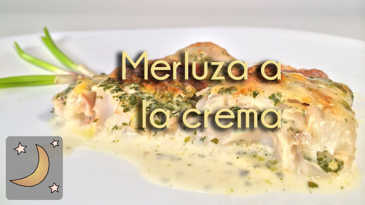 Como hacer merluza a la crema receta de pescado con salsa de crema y queso youtube - Como hacer salsa de nata ...