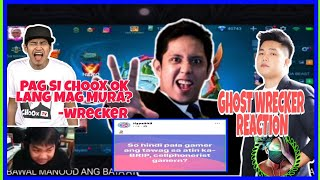 WRECKER NAGALIT KAY SH1NBOO? GHOST WRECKER REACTION ABOUT DOTA 2 AND MOBILE LEGENDS COMMUNITY ISSUE