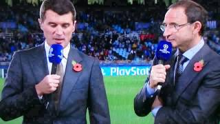 Martin O Neill and Roy Keane, New Republic of Ireland Manager, ITV, Champions League Coverage