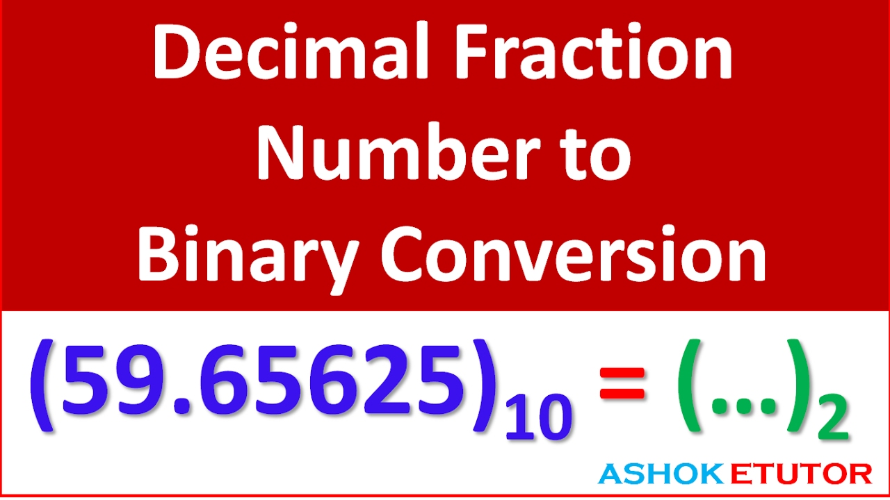 Decimal fraction to binary converter