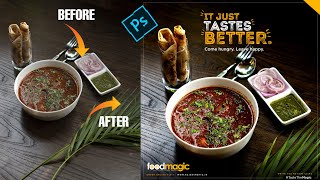 Learn Food Photo Editing, Banner Design and Logo Design in Hindi – Photoshop CC