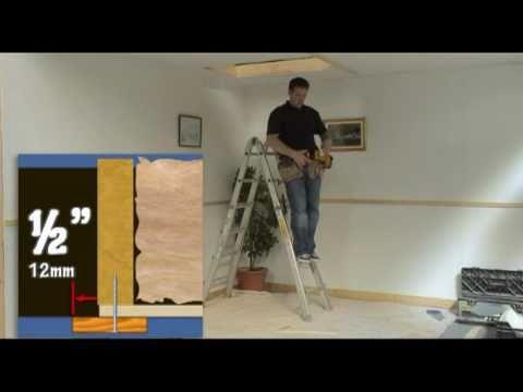 Fitting Semi Automatic Stira Folding Attic Stairs Loft Ladder