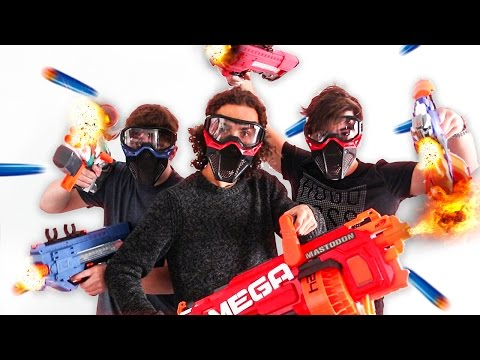 WORLD'S BIGGEST NERF WAR! w/ Robust
