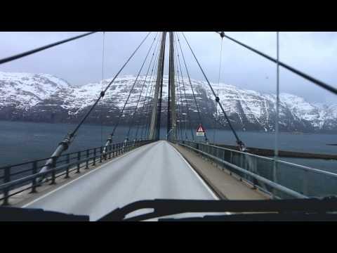 Trucking Norway.Helgeland Bridge.