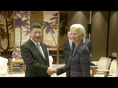President Xi Jinping meets IMF chief Christine Lagarde