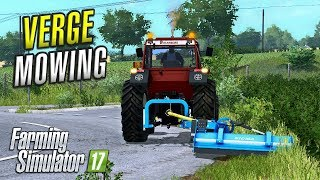 farming simulator 2017   verge mowing   ballymoon castle   episode 9
