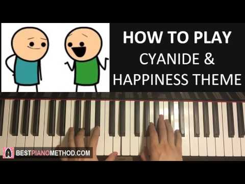 HOW TO PLAY - Cyanide & Happiness - Theme Song (Piano Tutorial Lesson)