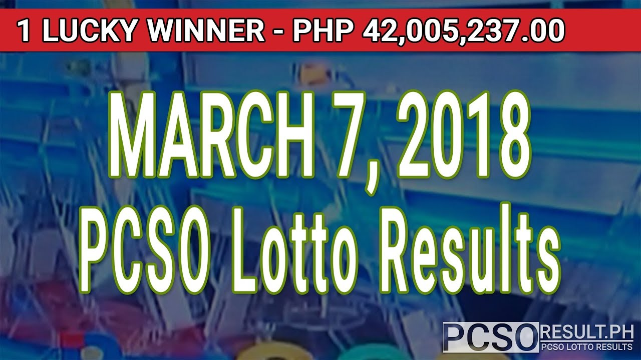 PCSO Lotto Results Today March 7, 2018 (6/55, 6/45, 4D, Swertres, STL & EZ2)