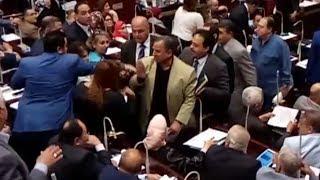 مشادات ساخنة في البرلمان المصري حول اتفاقية