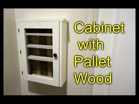 Cabinet from a Pallet - Essential Oil Shelf