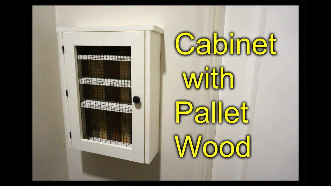 Cabinet From A Pallet Essential Oil Shelf Youtube
