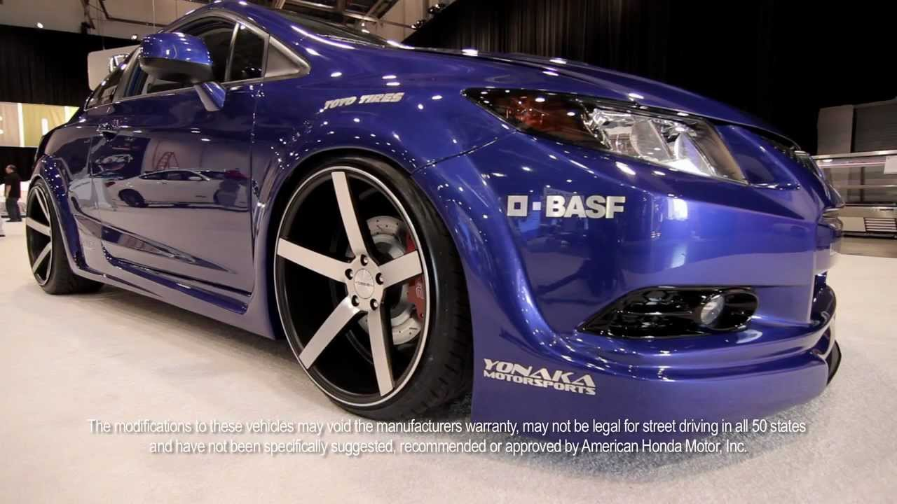 Fox Marketing 2012 Honda Civic Si At Sema On 20 Quot Vossen Vvs Cv3 Concave Wheels Rims Youtube