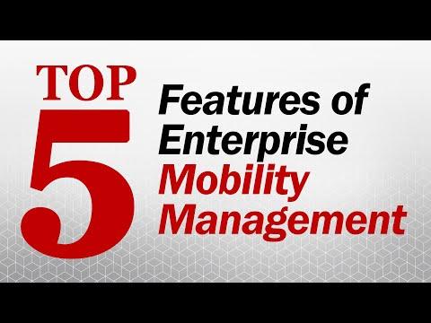 Top 5 Features of Enterprise Mobility Management - EMM