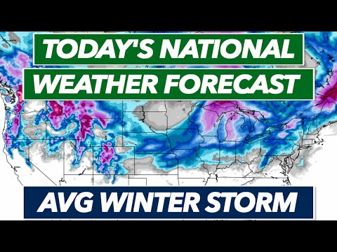 Moderate Winter Storm and Arctic Blast of Cold Air - Today's National Weather Forecast Live