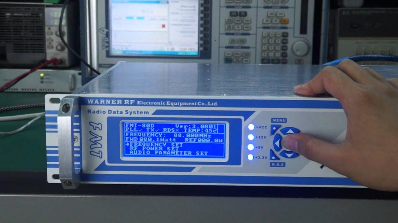 warner rf fmt 80d rds fm transmitter of test operation. Black Bedroom Furniture Sets. Home Design Ideas
