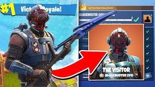 "Fortnite BLOCKBUSTER SKIN Gameplay! | ""The Visitor"" in Fortnite Battle Royale"