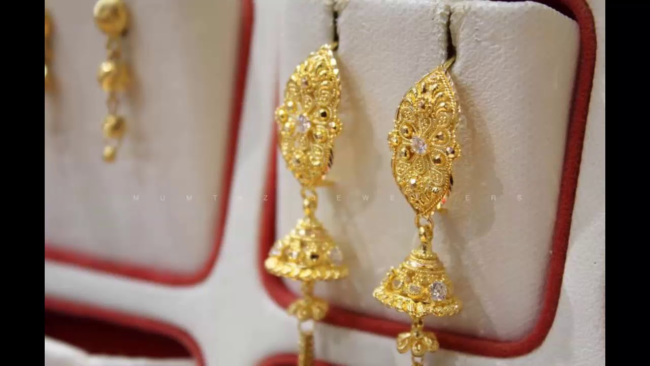 Latest Gold Earrings Designs Collection 2018