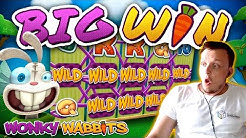 HIGH STAKE SUPER HIT on Wonky Wabbits Slot!!