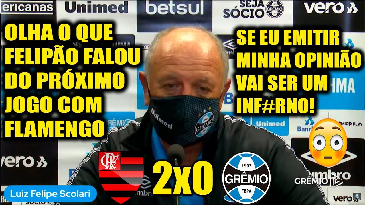 """ENTREVISTA DO ADVERSÁRIO """"FELIPÃO"""" FLAMENGO 2x0 GRÊMIO - COPA DO BRASIL."""