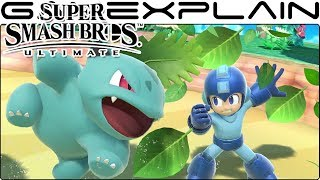 Super Smash Bros. Ultimate Gameplay - Pokémon Trainer, Pikachu, Link, Mega Man on Jungle Falls
