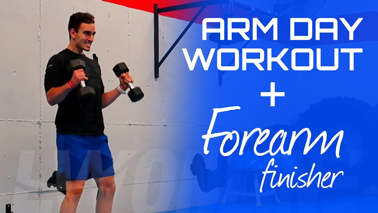ARM DAY WORKOUT💪🔥 - Follow Along Dumbbell Arm Workout With Forearm Finisher!
