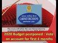 2020 budget postpone|eng