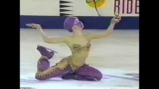 Oksana Baiul performs to