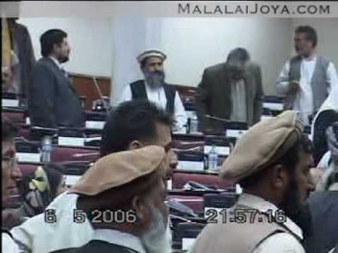 Malalai Joya is being attacked inside Afghan parliament