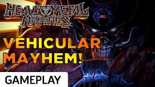 Twisted Metal Meets Rocket League in Top-Down Heavy Metal Machines Gameplay