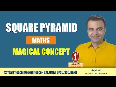 Square Pyramid Magical Concept  for ssc bank railway competitive exam