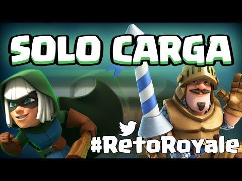 SÓLO UNIDADES CON CARGA. Esto es imposible | #RetoRoyale | Clash Royale