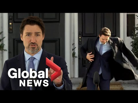 Justin Trudeau Forgets His Coat During Outdoor Press Conference