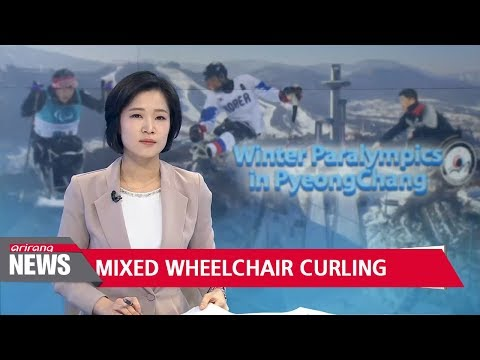 South Korea's mixed wheelchair curling team beat Switzerland...tied for 1st in round robin group