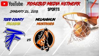 Todd County Falcons VS McLaughlin Mustangs