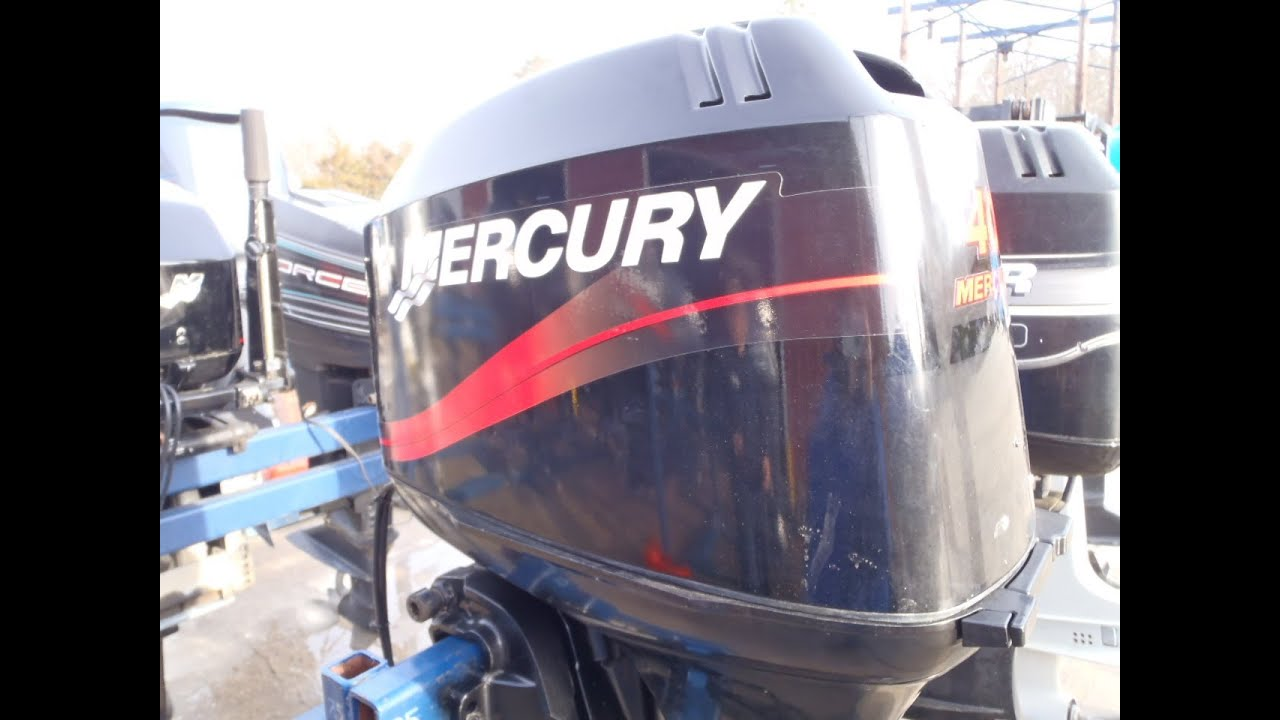 6m1765 used 2003 mercury 40elpto 40hp 2 stroke remote Two stroke outboard motors