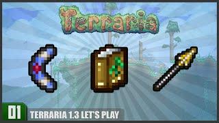 Let's Play Terraria 1.3 || Boomerang Encantado, Casa nas alturas e Bioma de Gelo || Parte 1 || PT-BR