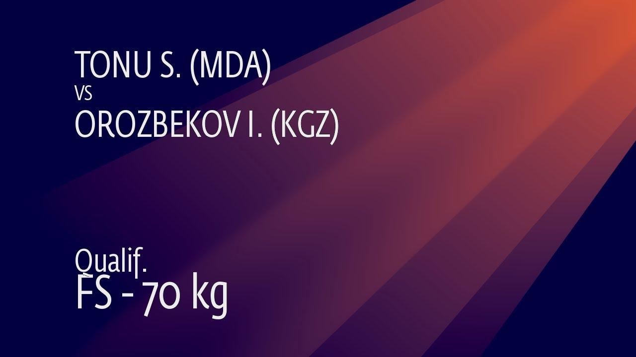 Qual. FS - 70 kg: S. TONU (MDA) v. I. OROZBEKOV (KGZ)