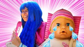 Смешные видео про принцесс - Принцесса Диснея поёт для Беби Бон! - Игры для девочек готовка