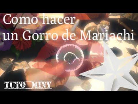 Como Hacer un Gorro De Mariachi - Charro Pequeño  Part 2 de 2 (Tuto Miny)  a50ef125348