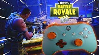 """Fortnite: Battle Royale sur XBOX ONE X avec Ma Nouvelle Manette Personnalisée """"GRONIE"""""""
