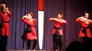 Faguner Mohonay (Bengali Folk Dance) at Sanskriti Saraswati Puja 2011