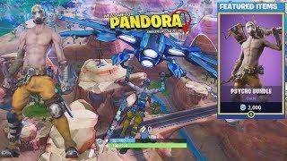 Fortnite x Borderlands 3 - Mayhem! Pandora! Psycho Bandit Skin! Claptrap Back Bling!