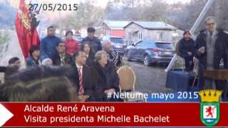 presidenta Bachelet en Neltume y alcalde Aravena