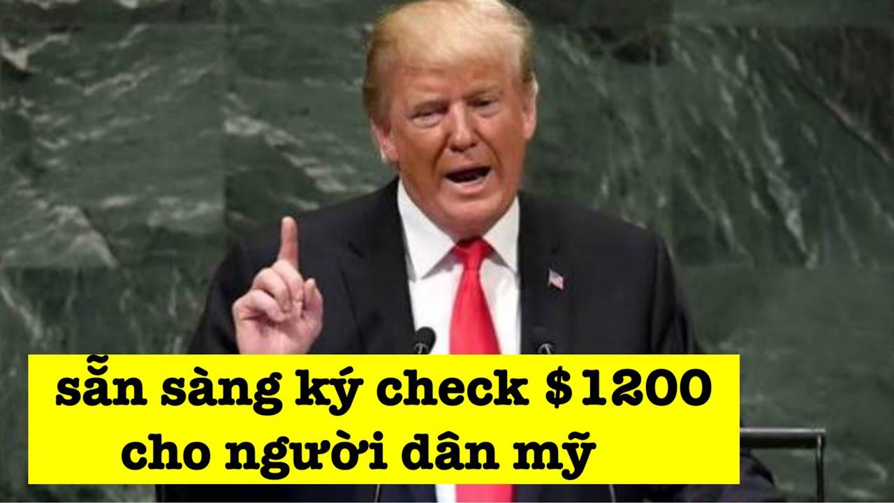 """TIN MỚI $1200 LẦN 2   GÓI CỨU TRỢ 2 TT TRUMP MUỐN """"B.Ơ.M THÊM TIỀN"""""""