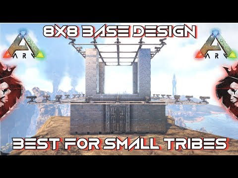 8x8 Base Design | Best For Small Tribes | Ark: Survival Evolved