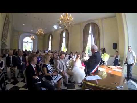 C r monie salle de mariage du ch teau de buc youtube - Photo de salle de mariage decoree ...