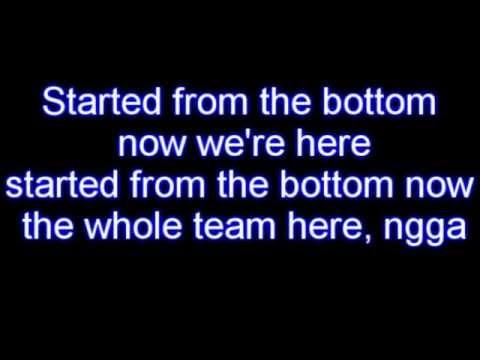 Drake Started From The Bottom lyrics